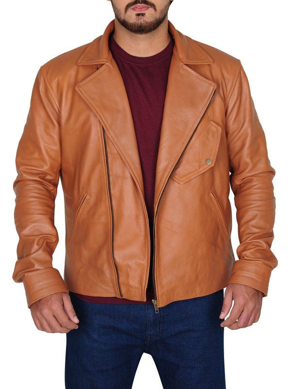 mauvetree, brown brando leather jacket for men, men brando leather jacket