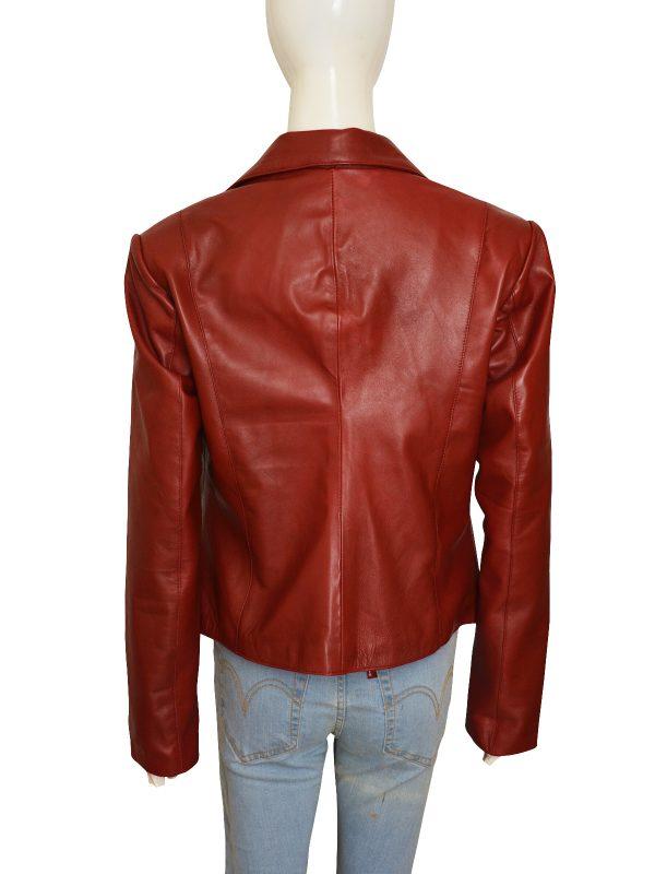 slim fit red brando leather jacket, teen girl leather jacket