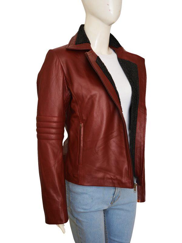 cool maroon leather jacket for female, famel maroon leather jacket