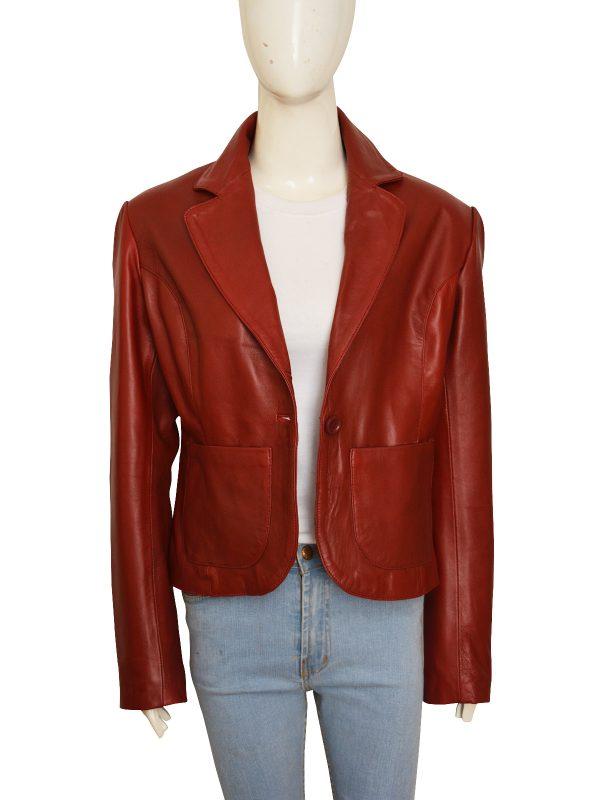 girl leather blazer, maroon women leather blazer,