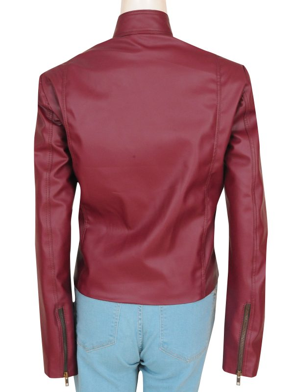 slim fit leather jacket for girls, trendy leather jacket for women