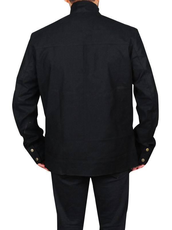 cheap black cotton jacket, stylish black cotton jacket
