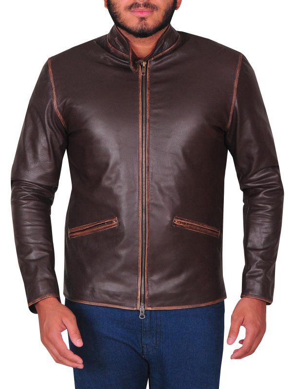 coffee brown leather jacket, coffee brown jacket for men