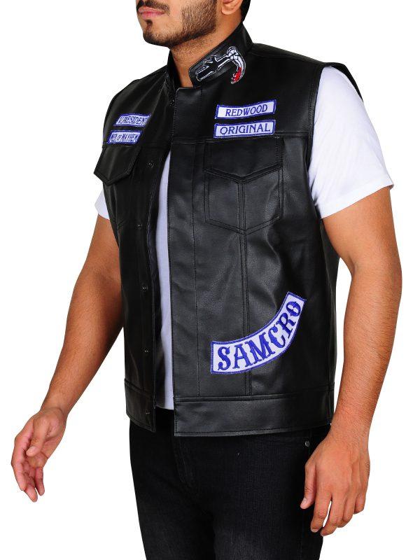 sons of anarchy men black vest, black vest sons of anarchy