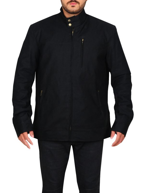 black cotton jacket for men, black cotton jacket for man