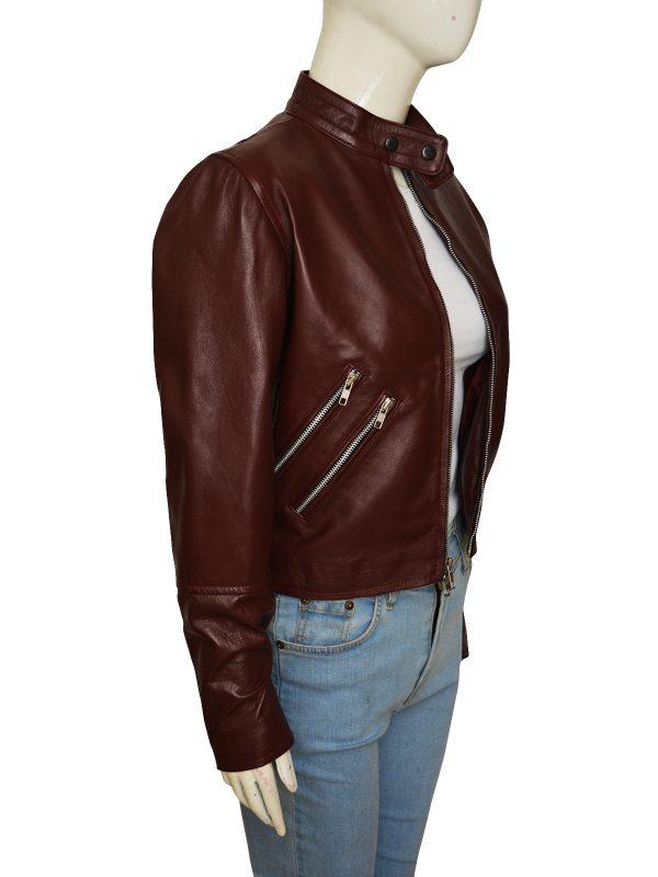 mauvetree, trendy leather jacket,