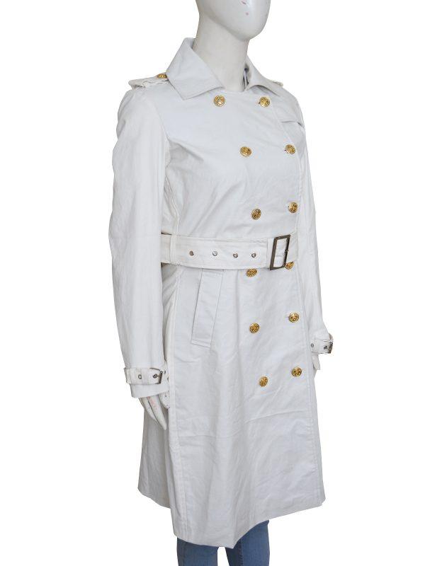 trending white long coat, mauvetree, fashionable clothing,