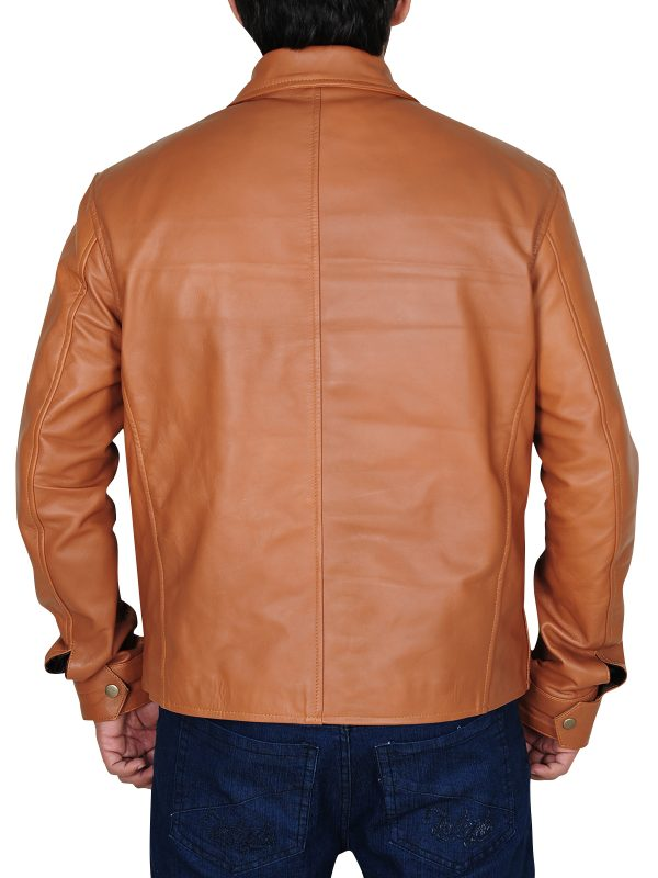 tawny brown leather jacket for men, tawny brown leather jacket