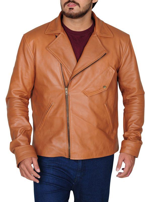 cool brando leather jacket for men, dashing brown leather jacket