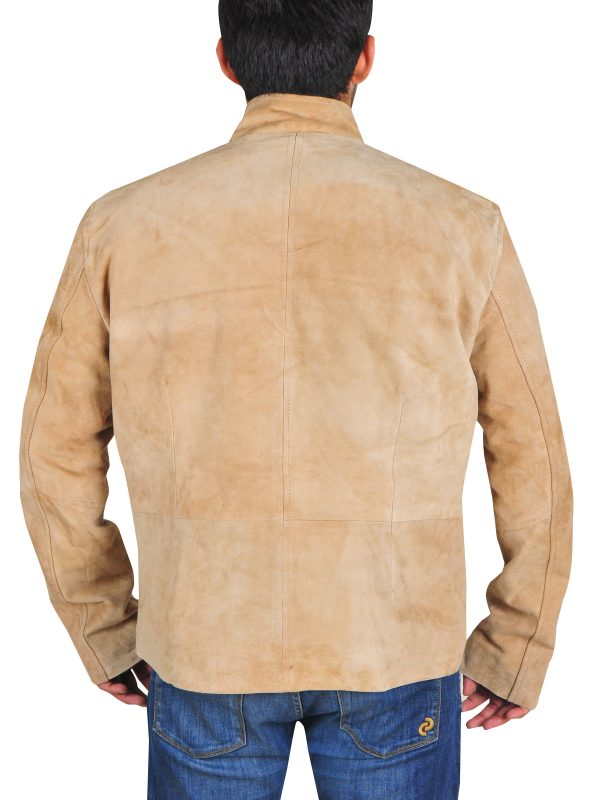 light brown leather jacket for men. trendy brown leather jacket