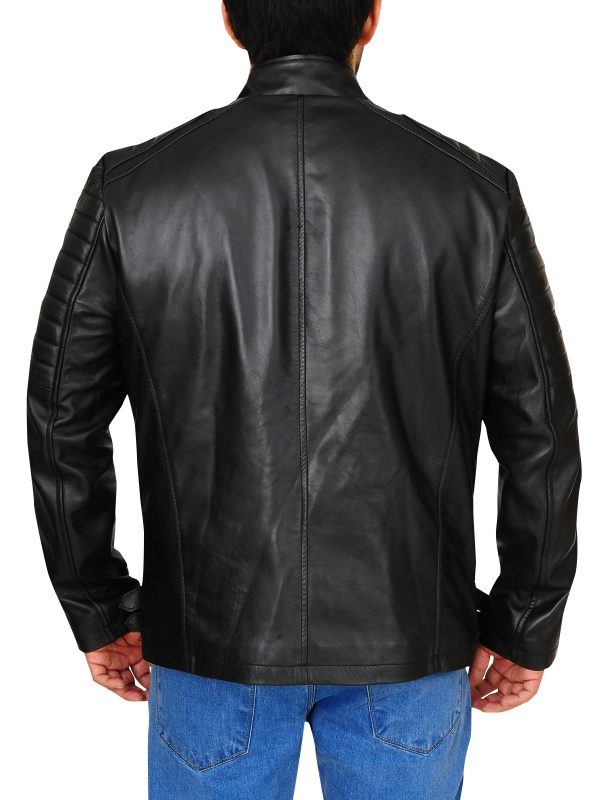 trendy black jacket for bikers, bikerlife leather jacket
