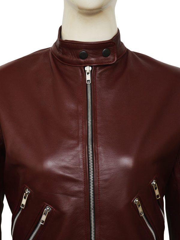 dashing leather jacket teen girl, fashion 2018 women