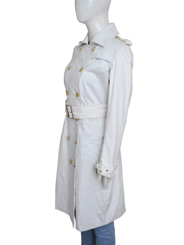 outterwear for women, white warm long coat,