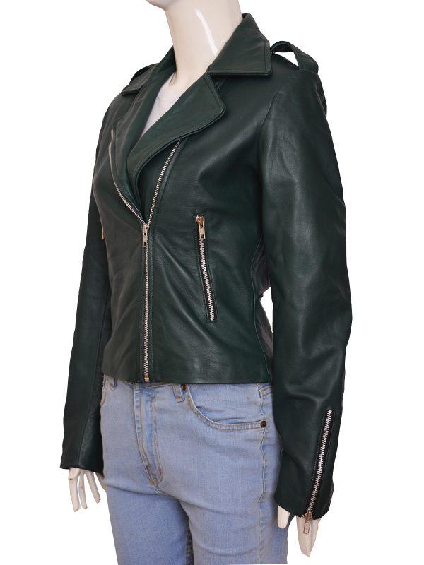 2018 green leather jacket, trendy, fashionable, mauvetree, mauve tree