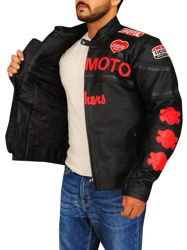 icon biker jackets, padded biker leather jacket,