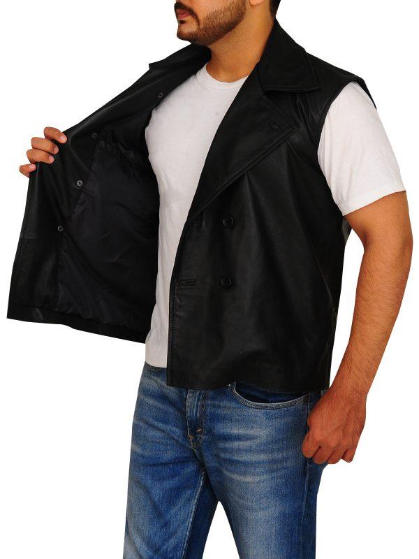 spiderman vest, leather vest for bikers,