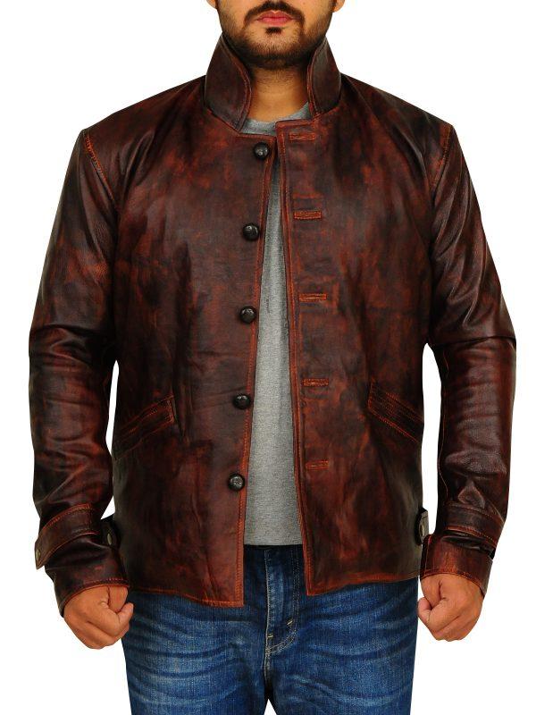 men dark brown leather jacket, brown leather jacket for men,