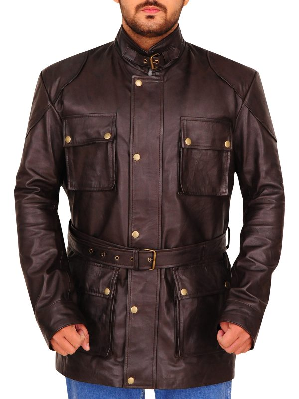 dark brown leather jacket, brown leather jacket men,