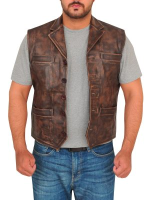 vest for men, dark brown vest,