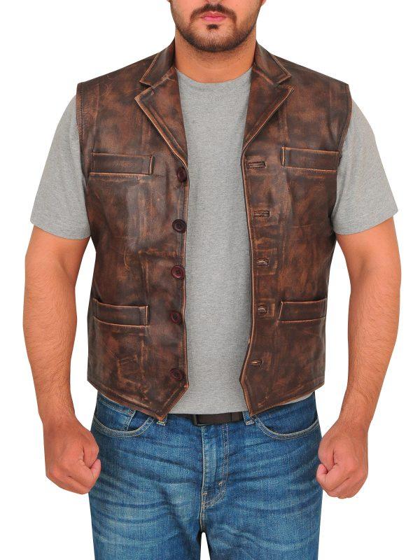 vest for men, dark brown vest,