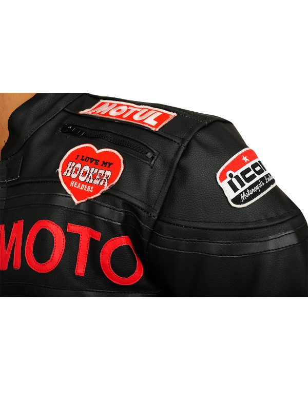 icon moto leather jacket, icon by motorcycle order now, men leather jacket,