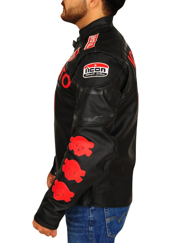 sportsbike jacket, racer leather jacket,