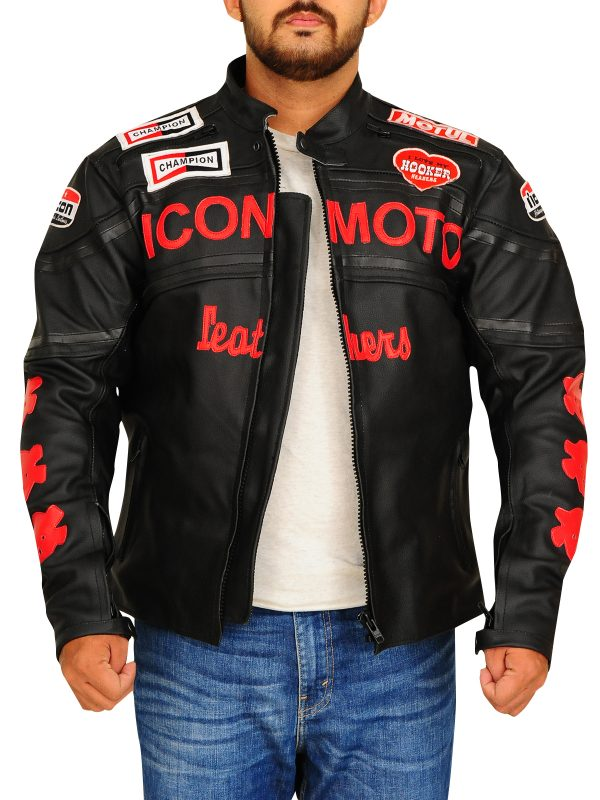 men black leather jacket, harley davidson, yamaha, honda, ducati, motorcycle girl,