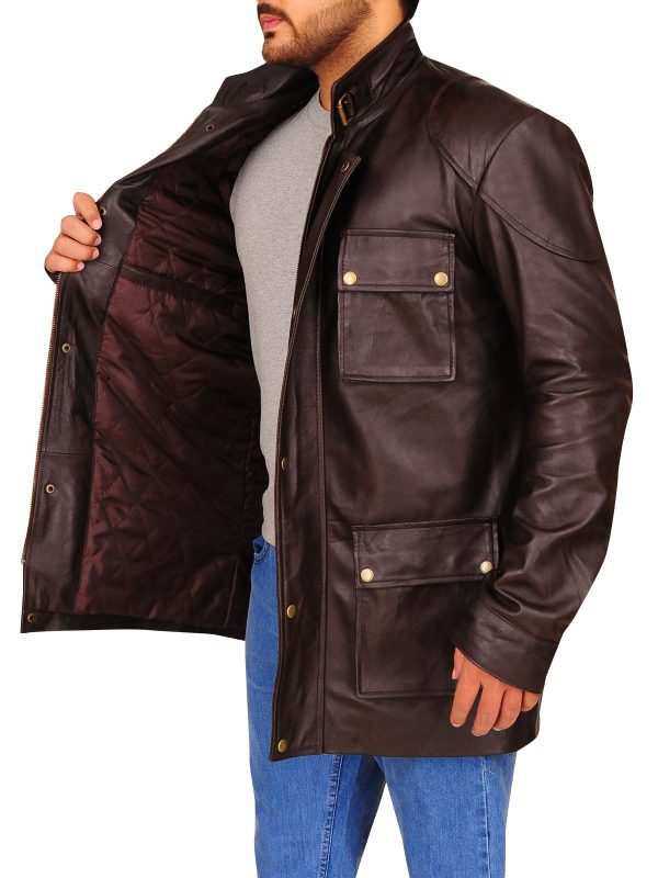 men brown leather jacket, dark brown leather jacket,