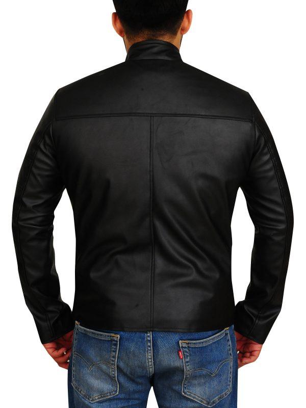 men black leather jacket, men biker jacket,