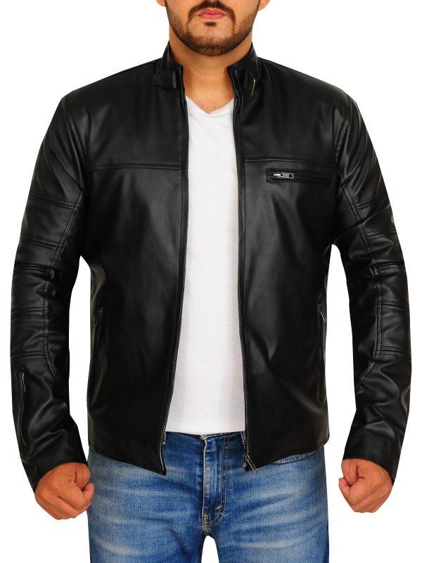 slim fit biker leather jacket for men, slim fit biker leather jacket for college boys,