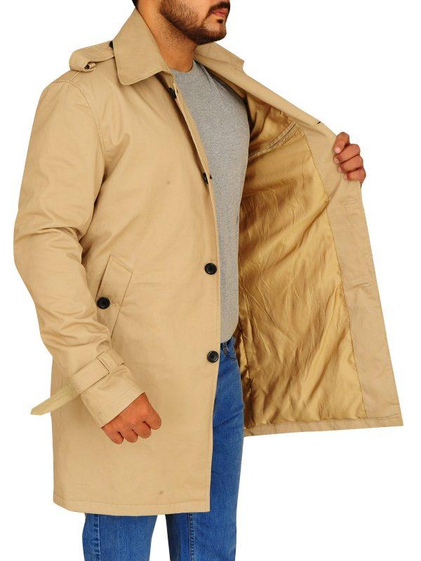 stylish brown long coat, long coat for men,