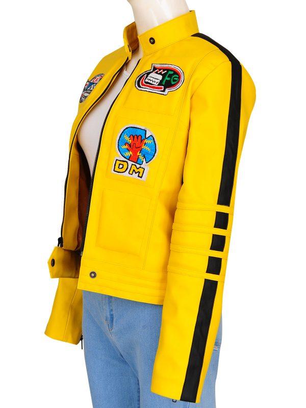 girl yellow leather jacket, yellow jacket for girls