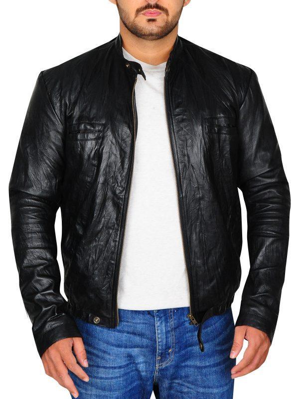 zac efron black leather jacket, zac efron jacket,