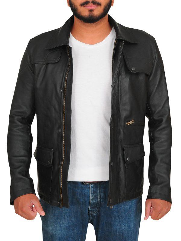 Arnold Schwarzenegger black leather jacket, Arnold Schwarzenegger jacket,