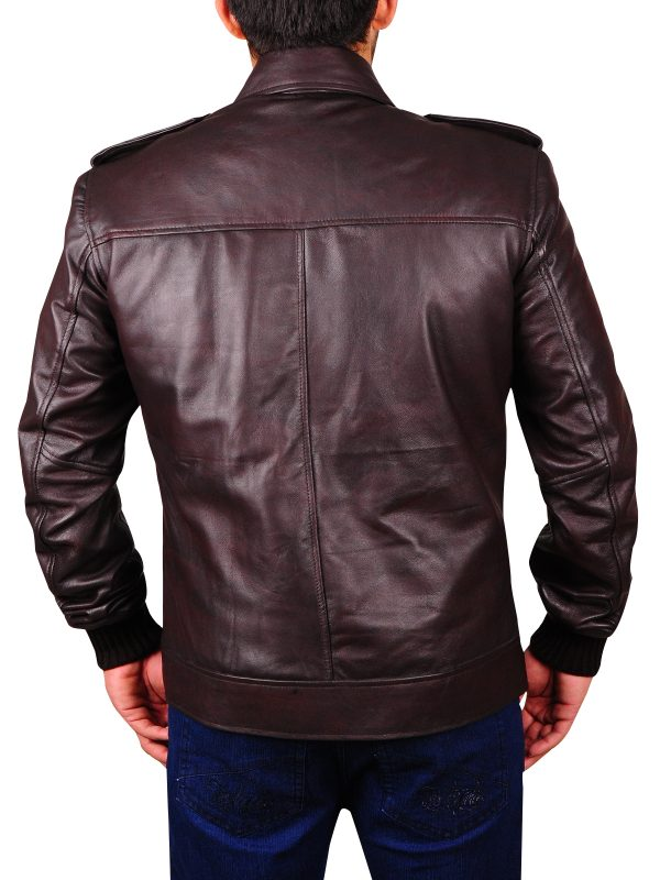 mauvetree leather jacket, brown leather jacket,