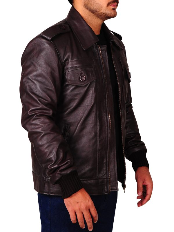 locomotive brown jacket, captain america brown jacket,