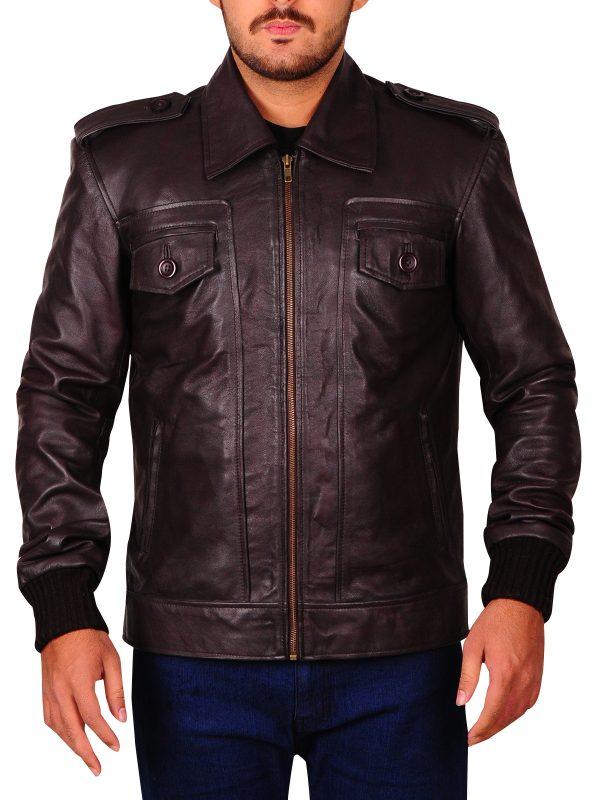 steve rogers brown leather jacket, steve rogers chris evans brown jacket,