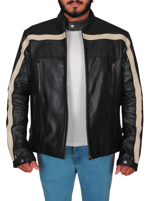 mauve tree leather jacket, MauveTree biker jacket,