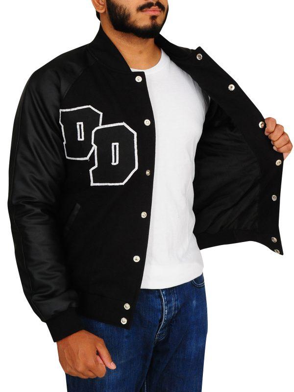 cool black varsity jacket, black varsity jacket for men,