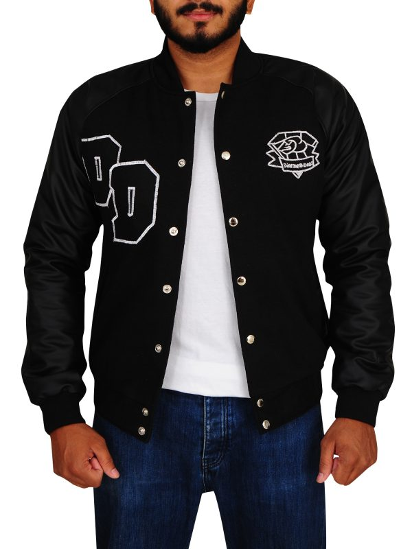 big boss diamond dogs varsity jacket, diamond dogs black varsity jacket,