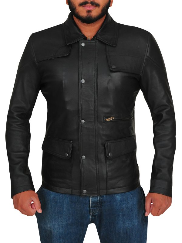 slim fit leather jacket, body fitted leather jacket,