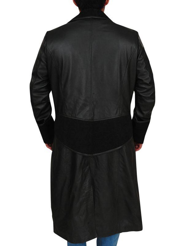 trench coat for men, men's black trench coat,