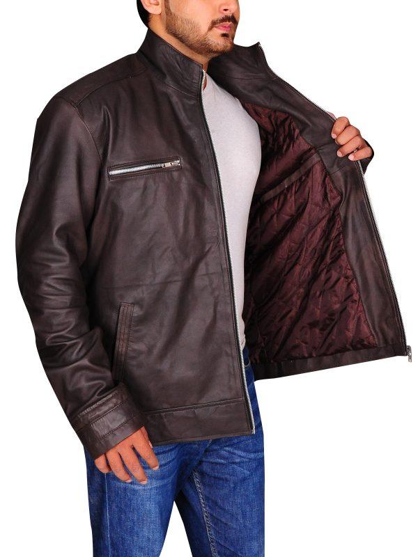 agents of shield leather jacket, brown men jacket,