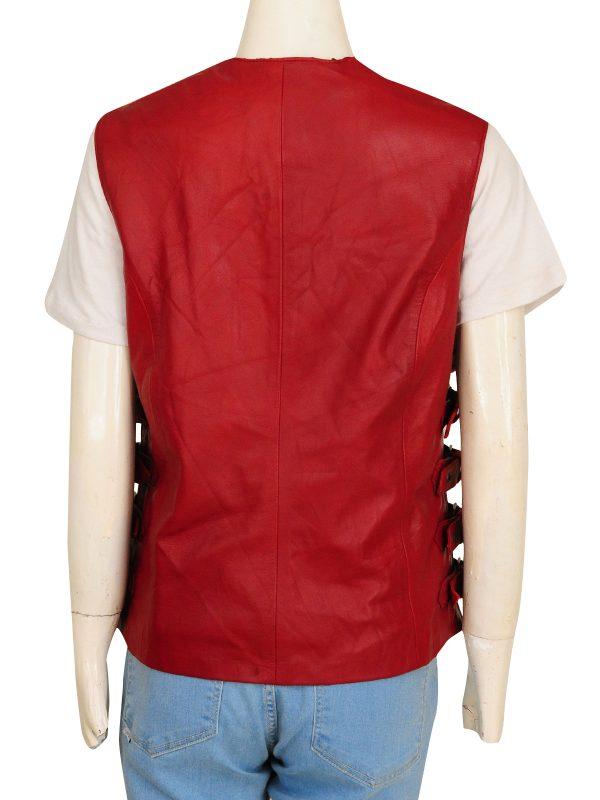 maroon women vest, female maroon vest,
