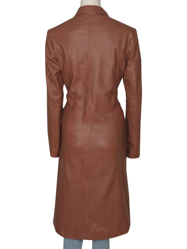 Donna Noble brown coat, Donna Noble leather coat,
