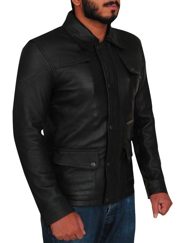 terminator leather jacket, Black terminator jacket,