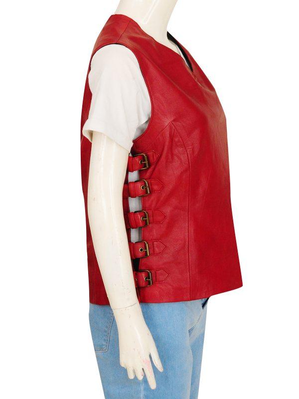women leather vest, female leather vest,
