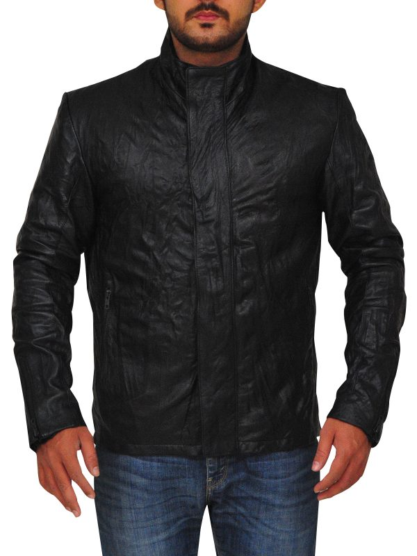 cheap black leather jacket, bikers black leather jacket,