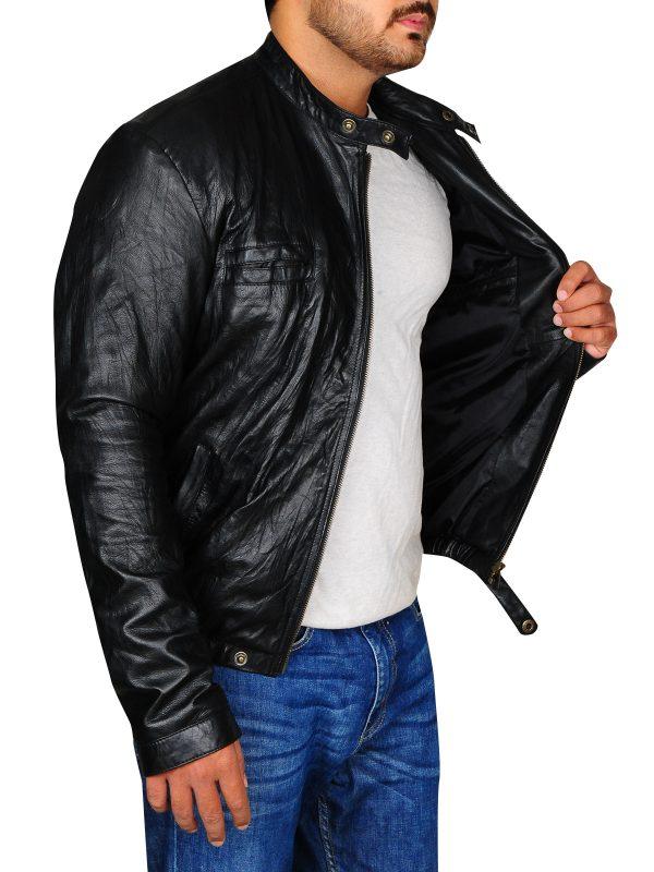 zac efron celebrity wear, celebrity wear leather jacket,