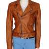 kim kardashian jacket, girl brown leather jacket,